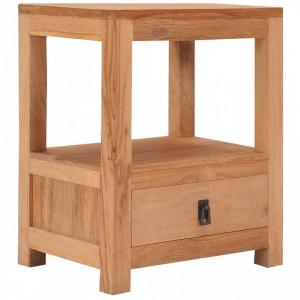 Noptiera, 40 x 30 x 50 cm, lemn masiv de tec - V287228V