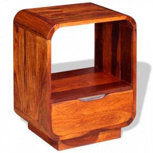 Noptiera cu sertar, lemn masiv de sheesham, 40 x 30 x 50 cm - V243952V