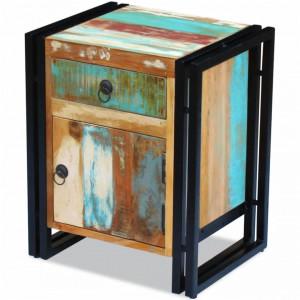 Noptiera din lemn reciclat de esenta tare - V243278V