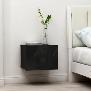 Noptiera, negru extralucios, 40 x 30 x 30 cm, PAL - V801067V