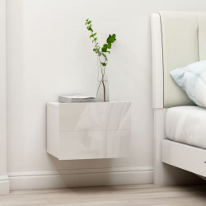 Noptiere, 2 buc., alb extralucios, 40 x 30 x 30 cm, PAL - V801066V