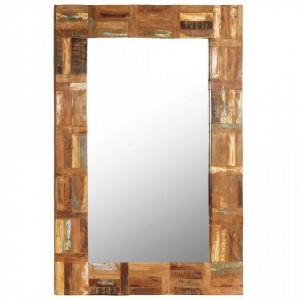 Oglinda de perete, lemn masiv reciclat, 60 x 90 cm - V246418V