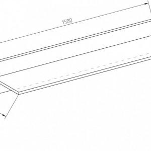 OSRA4 - Raft 150 cm, birou, biblioteca, living, hol, dressing - Alb