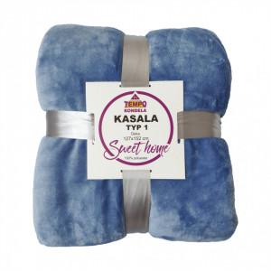 Pătură cu două feţe, gri-albastru, 127x152, KASALA TYP 1