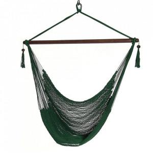 Scaun balansoar suspendabil, verde închis / maro, BASKO