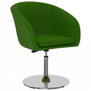 Scaun de bucatarie, verde, piele ecologica - V323175V