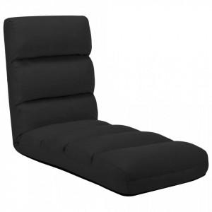 Scaun de podea pliabil, negru, piele ecologica - V325245V