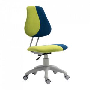 Scaun rotativ reglabil, verde/albastru/gri, RAIDON