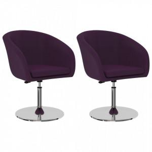 Scaune de bucatarie, 2 buc., violet, piele ecologica - V323184V