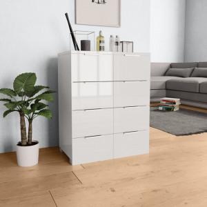 Servanta, alb foarte lucios, 60 x 35 x 76 cm, PAL - V283712V