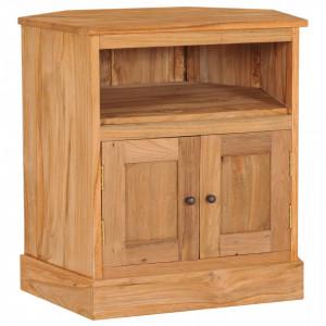 Servanta de colt, 60 x 45 x 60 cm, lemn masiv de tec - V288898V