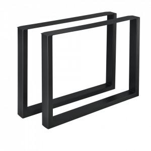 Set 2 bucati picioare masa/mobilier Model 1, 90 x 72 cm, metal, negru - P57353514