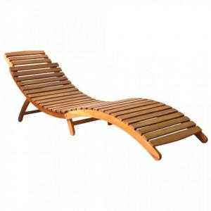 Sezlong, maro, lemn masiv de acacia - V46650V