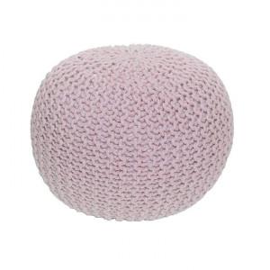 Taburet împletit, bumbac roz pudră, GOBI TYP 1