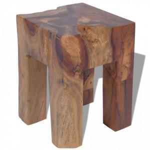 Taburet, lemn de tec masiv - V243471V