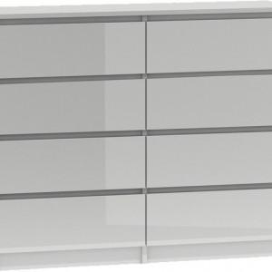 TECOA117 - Comoda 120 x 40 x 97 cm, Alb-Lucios