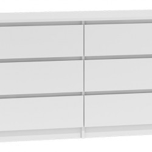 TECOA131- Comoda 138 x 40 x 77 cm, Alb-Mat