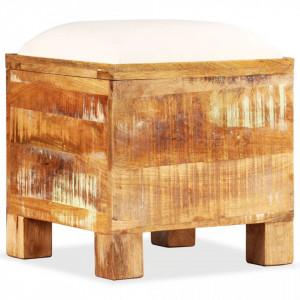 Banca de depozitare, lemn masiv reciclat, 40 x 40 x 45 cm - V245138V
