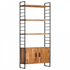 Biblioteca cu 4 niveluri, 80x30x180 cm, lemn masiv de acacia - V284420V