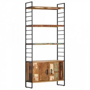 Biblioteca cu 4 niveluri, 80x30x180 cm, lemn masiv reciclat - V284419V
