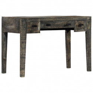 Birou, negru, 110 x 50 x 75 cm, lemn masiv de mango - V247913V