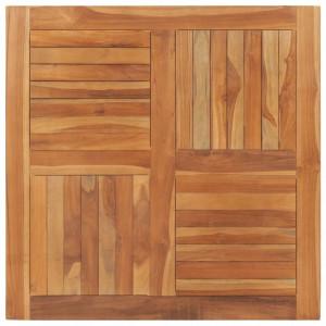 Blat de masa patrata, 90 x 90 x 2,5 cm, lemn masiv de tec - V48991V
