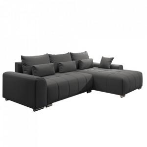 Canapea universală, gri închis, DEVLIN