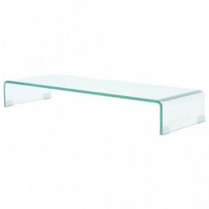 Comoda TV/Suport monitor sticla transparenta 90 x 30 x 13 cm - V244130V