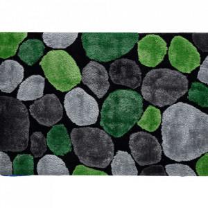 Covor 140x200 cm, verde/gri/negru, PEBBLE TYP 1