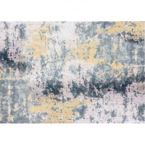 Covor 80x200 cm, albastru/gri/galben, MARION TYP 1