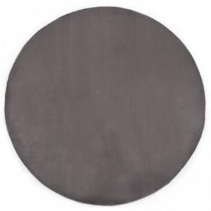 Covor, gri inchis, 160 cm, blana ecologica de iepure - V285094V