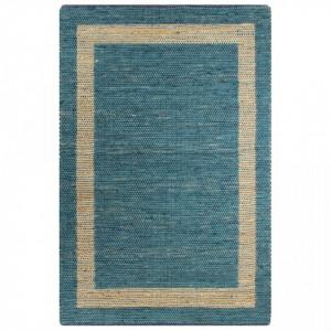 Covor manual, albastru, 160 x 230 cm, iuta - V133736V