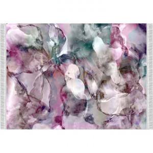 Covor, model roz/verde/crem, 80x150, DELILA