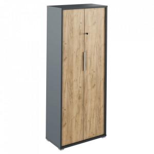 Dulap cu lacăt, grafit / stejar artizanal, RIOMA NEW TYP 31