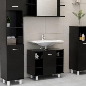 Dulap de baie, negru, 60 x 32 x 53,5 cm, PAL - V802634V