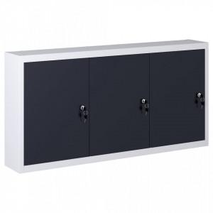 Dulap de scule de perete, gri & negru, metal, stil industrial - V145353V