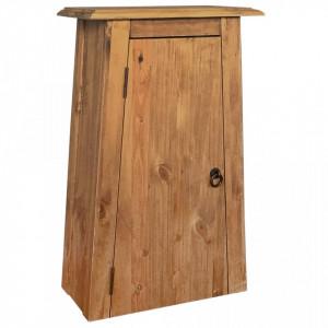 Dulap suspendat baie, lemn masiv de pin reciclat, 42x23x70 cm - V246039V