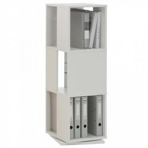 FMD Dulap rotativ de dosare deschis, alb, 34 x 34 x 108 cm - V428797V