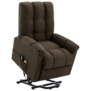 Fotoliu de masaj rabatabil vertical, maro, material textil - V321394V