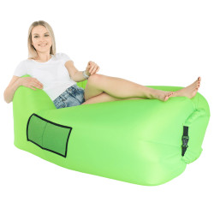 Geantă scaun gonflabilă / geanta leneşă, verde, LEBAG