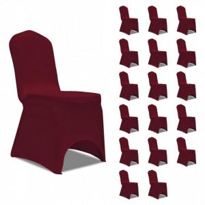 Huse de scaun elastice, 18 buc., visiniu - V3051644V