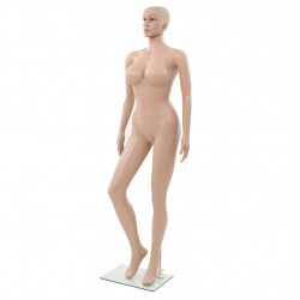 Manechin feminin sexy, suport din sticla, bej, 180 cm - V142930V