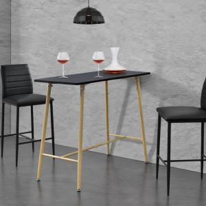 Masa bar Enkoping, 110 x 50 x 90 cm, MDF/metal, negru - P69369740