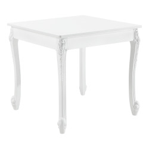 Masa bucatarie Luneburg 80, 80 x 80 x 76 cm, MDF/plastic, alb, pentru 2 persoane - P71650548
