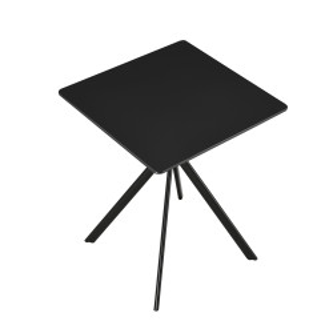 Masa bucatarie neagra HTAT-9205, 60 x 60 x 75 cm, MDF lacuit, negru - P57565930