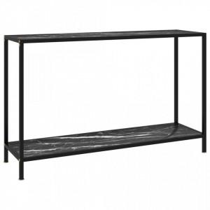 Masa consola, negru, 120 x 35 x 75 cm, sticla securizata - V322842V