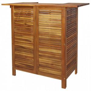 Masa de bar, 110 x 50 x 105 cm, lemn masiv de acacia - V44007V