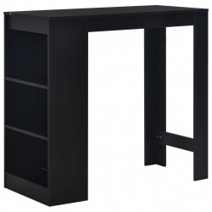 Masa de bar cu raft, negru, 110 x 50 x 103 cm - V280212V