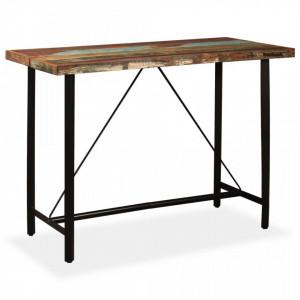 Masa de bar din lemn masiv reciclat, 150 x 70 x 107 cm - V245441V
