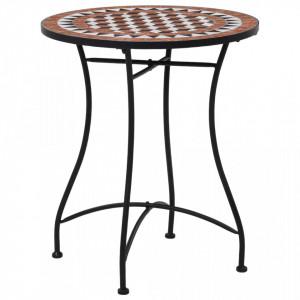 Masa de bistro mozaic, maro, 60 cm, ceramica - V46713V